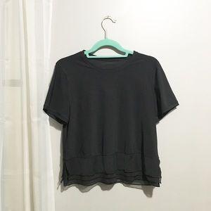 Lululemon Black Short Sleeve Top